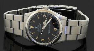 Rolex Explorer 5500 vintage 1970 SS automatic men's watch with Black dial