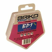 100g Briko Maplus BP1 Violet Cool Ski Wax | Fast Glide Tuning Waxing