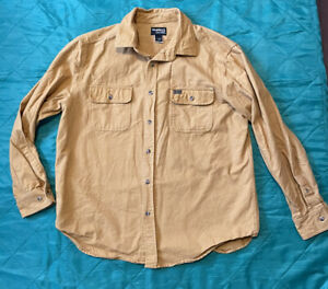 Chamois Flannel Shirt Guide Series Size Gander Mountain Large Mustard Color