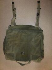 Vintage Military Canvas Leather Straps Shoulder Ammo Bag Field Bag