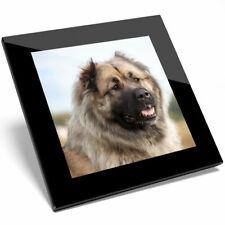 1 x Caucasian Shepherd Dog Glass Coaster - Sheepdog Puppy Kitchen Gift #3178