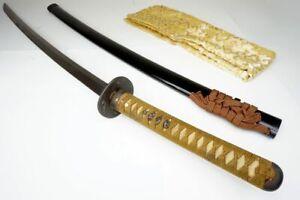 87cm Long Robust: Antique Japanese Samurai Katana Sword Nihonto, Authentic