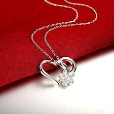Hot sale Pretty Butterfly Heart Necklace Sterling silver H925 Ku