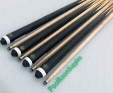"WOODEN 4 x 2-Piece Pool Billiard Snooker Cue 57"" Cues 11mm Screw Tips Gift"