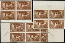 #759 ARROW BLOCK SET 1935 4 CENT PARKS FARLEY ISSUE-MINT-NH/NO GUM AS ISSUED