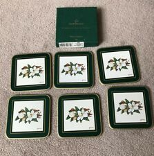 CLOVERLEAF Magnolia Floral Coasters Set 6 pc Tea Coffee Cup Tableware Kitchen