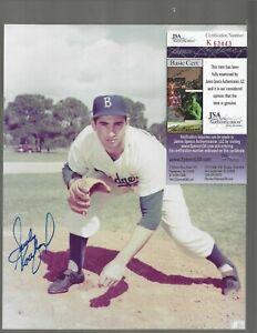 Sandy Koufax Brooklyn Dodgers HOFer Autographed 8x10 Color Photo JSA COA