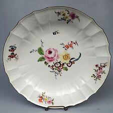 """Antique 18C/19C Meissen 12"""" Porcelain Charger or Large Plate - Streublumen PC"""