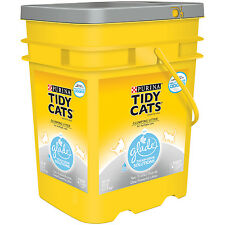 Purina Tidy Cats 35lbs Clumping Litter W/Glade Tough Odor Solutions Clear Spring