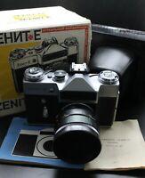 🔥NEW! USSR ZENIT-E Russian Rangefinder VINTAGE Film Camera HELIOS 44-2 Lens BOX