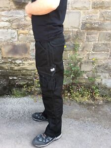 Scruffs Worker Trousers black cargo style With knee pad pockets