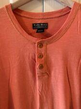 Lucky Brand XL Shirt Orange Henley