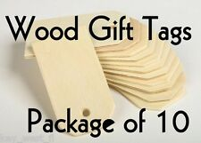 "LARGE WOOD GIFT TAG ~3"" ~ Cutout Craft Shape ~ Unfinished { Lot of 10 } ~ by PLD"