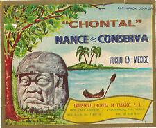 Label-CHONTAL,Industrial Licorera del Tabasco,MX,Mexico liquor.Statue=melaneybuy