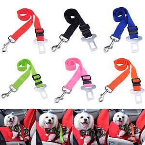 Car Vehicle Safety Seat Belt Adjustable Nylon Strap Travel Clip for Pet Cat Dog