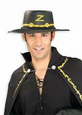 Deluxe Zorro Hat Mens Fancy Dress Mexican Superhero Adults Costume Accessory New