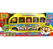 Pororo & Friends Melody School bus Figures Sound Toy Korean Animation Kids Gift