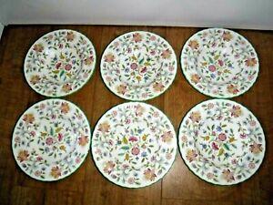 "Minton Haddon Hall Set Of 6 Rimmed Soup Bowls ~ 8"" Diameter ~ 1st ~ Excellent"