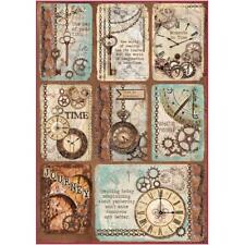 Stamperia Tarjetas de Papel de Arroz A4-las agujas del reloj (dfsa 4287) NUEVO