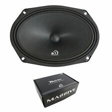 "6  x 9"" Sealed Back Midbass Midrange 8 Ohm Massive Audio Audio M69CL 240W"