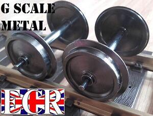 G SCALE 45mm GAUGE METAL 30mm diam WHEELS FOR ALL TRAIN INC PIKO & NQD RAILWAY