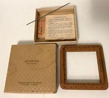 Vintage Cartercraft Studios Loomette Small Wooden Hand Loom Weaving Box & Needle