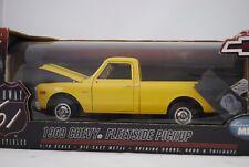 1:18 Highway 61 1969 Chevy Fleetside Pickup Jaune Jaune - Rare