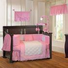 BabyFad 10 Piece Minky Pink Baby Crib Bedding set