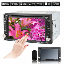 "6.2"" Double DIN Car CD DVD Player Stereo FM/AM Radio Bluetooth TV USB SD In Dash"