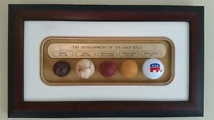 "DEVELOPMENT OF THE GOLF BALL Wall Plaque 16.5""x9.5"" w/GOP Par Ball - GREAT GIFT!"