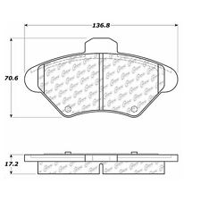 105.06000 - Centric Posi-Quiet Ceramic Disc Brake Pad Set W/HDW Free Shipping!