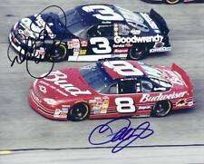 """DALE EARNHARDT """"RACING TOGETHER"""" WITH DALE EARNAHRDT JR AUTOGRAPHED 8X10"""" PHOTO"""