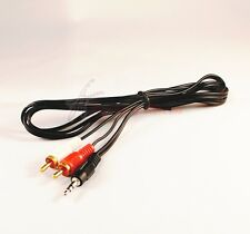 3.5MM JACK MALE TO 2 RCA AUDIO STEREO PHONO CABLE LEAD FOR PC LAPTOP LCD TV 1.2M