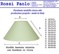 Abat-jour conico modèle chinoise en tissu couplé a plastique; Fabriqué en Italie