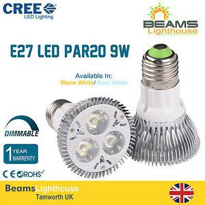 PAR20 E27 3*3W 9W DIMMABLE CREE LED Spotlight Light Bulb Warm Day White Lamps