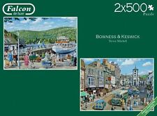 Falcon Deluxe Bowness And Keswick Jigsaw Puzzle (2 x 500 Pieces)
