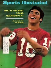 JIM PLUNKETT STANFORD CARDINALS AUTOGRAPHED JSA SPORTS ILLUSTRATED COVER