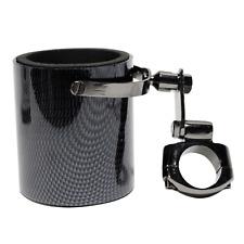 Carbon Fiber Replica Motorcycle Cup Handlebar Drink Bottle Holder Universal