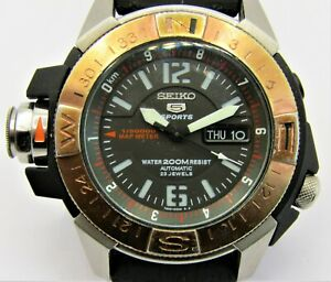 Seiko 5 Sports SKZ320 MAP METER 7S36-02K0 WR200M Gents 23J Automatic Watch