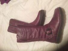 Oxygen Stitch Down Mid Calf Boot Purple Size 7