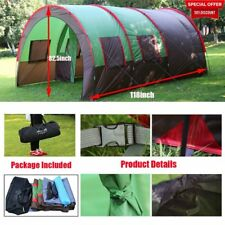8-10Person 4-Season 189 x122  Family Dome C&ing Tent Waterproof Hiking  sc 1 st  eBay & Tunnel Camping Tents | eBay