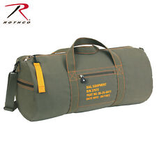 24 Inch Canvas Equipment Bag Flight Style Should Bag Rothco 2354