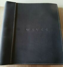 Waves leather bound signed script