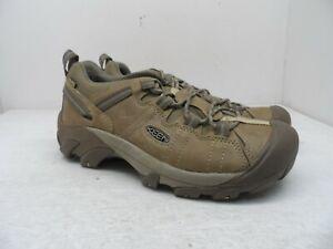 KEEN Men's Targhee II WP Trail Hiking Shoe Safari/Timberwolf 9M