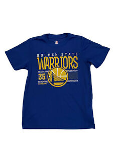 NBA Golden State Warriors Kevin Durant #35 T Shirt Boys Size 10-12 Blue GUC!