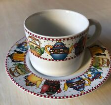 Mary Engelbreit  Afternoon Tea Cup and Saucer Set Sakura Coffee Mug 1994