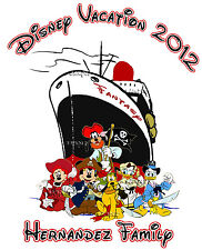 2017 Disney Cruise Fantasy Family Vacation T shirt Personalized tee  Present