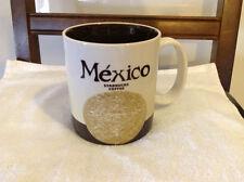 STARBUCKS Mexico Collector series  coffee cup Mug 2010 16 oz Used