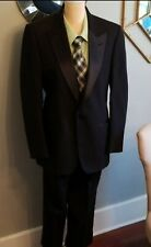 Christian Dior Black Stripe Men's Tuxedo Suit Jacket and Pants Size 40R 2 Piece