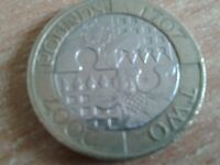 Two pound £2 coin Tercentenary of the Act of Union England an Scotland 2007 1707
